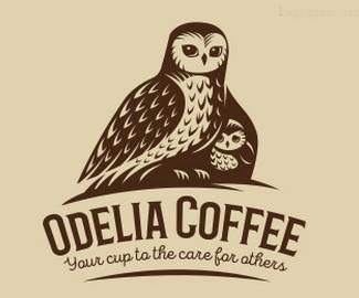 佛山咖啡馆标志Odelia